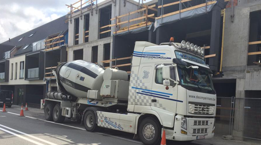 Transportbedrijf Desimpel Trans betontransport in België en Nederland