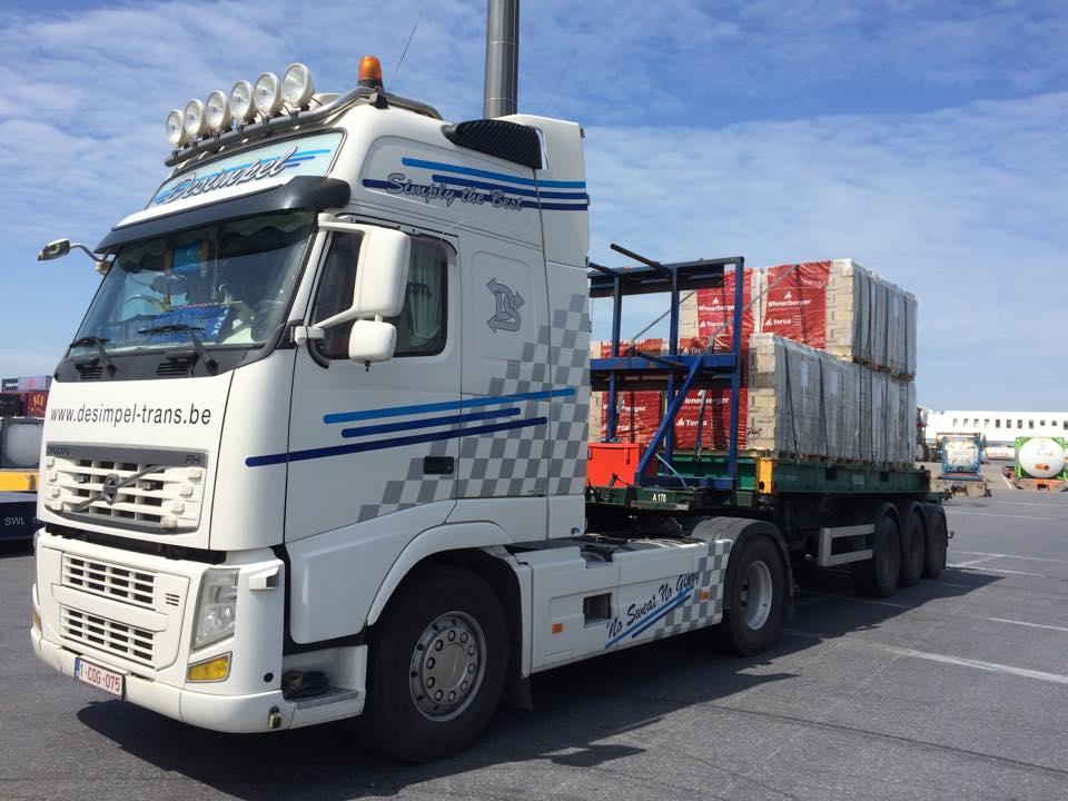 Transportbedrijf Desimpel Tractie vervoer in België en Nederland
